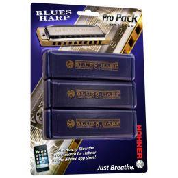 Hohner 3P532 Blues Harp Pro Pack 3 Harmonicas