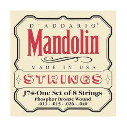 D Addario J74 Mandolin Strings Phosphor Bronze Medium 11-40