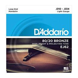 D'Addario EJ62 80/20 Light Gauge Bronze Mandolin Strings - 10-34