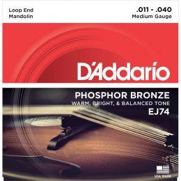 D'Addario ej74 Mandolin Phosphor Bronze Medium 11-40
