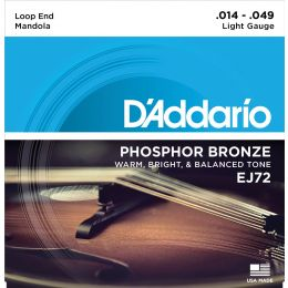 D Addario EJ72 Phosphor Bronze Mandola Strings, Light, 14-49