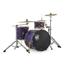 SJC Drums Navigator 3-Piece Kit - Royal Purple Stain with Brass Hardware