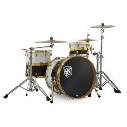 "SJC Drums Paramount ""Tuxedo"" 3pc Kit with Brass Hardware"