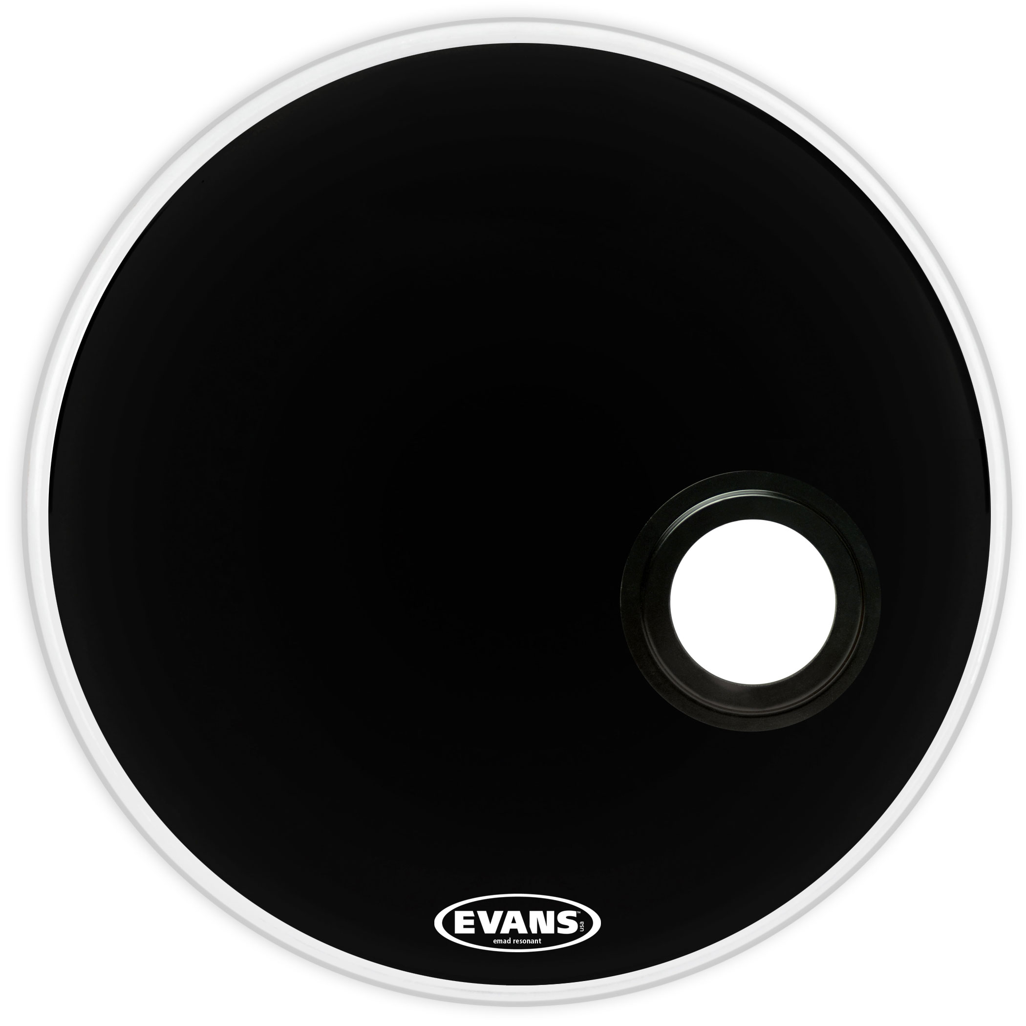 evans bd20remad 20 inch emad resonant black bass drum head 689788497273 ebay. Black Bedroom Furniture Sets. Home Design Ideas