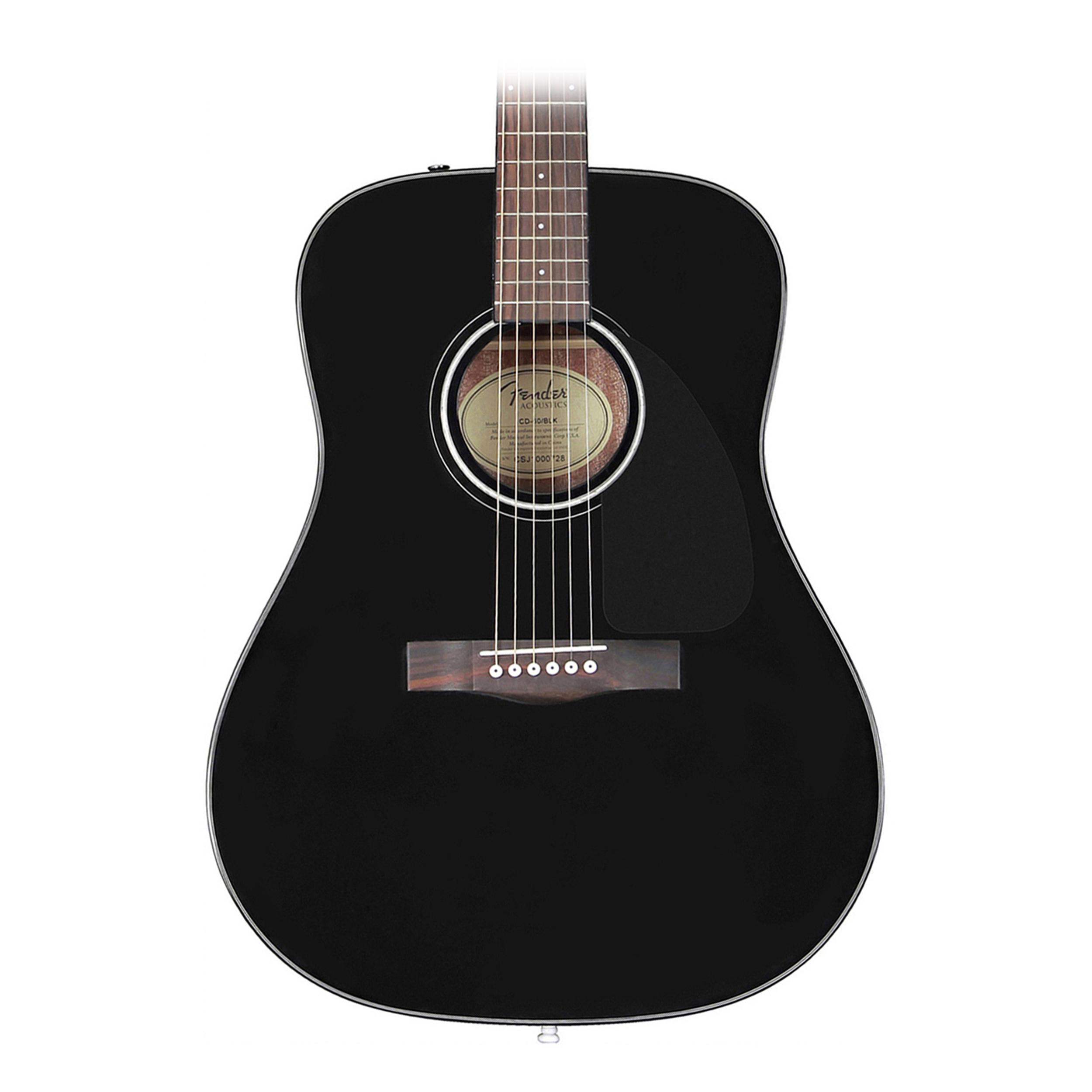 fender cd60 acoustic dreadnought black guitar 717669961787 ebay. Black Bedroom Furniture Sets. Home Design Ideas