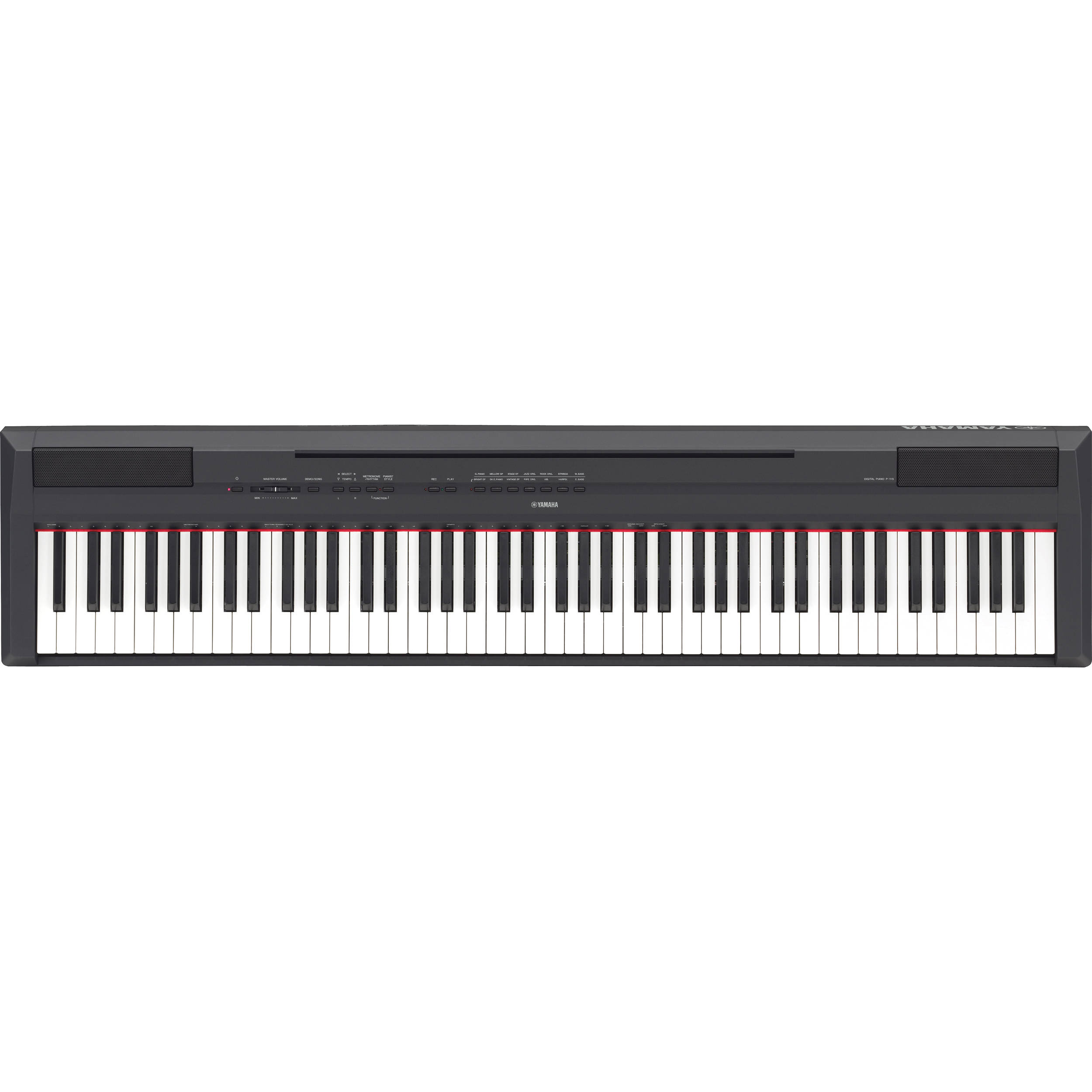 yamaha p 115 88 key weighted action digital piano ebay