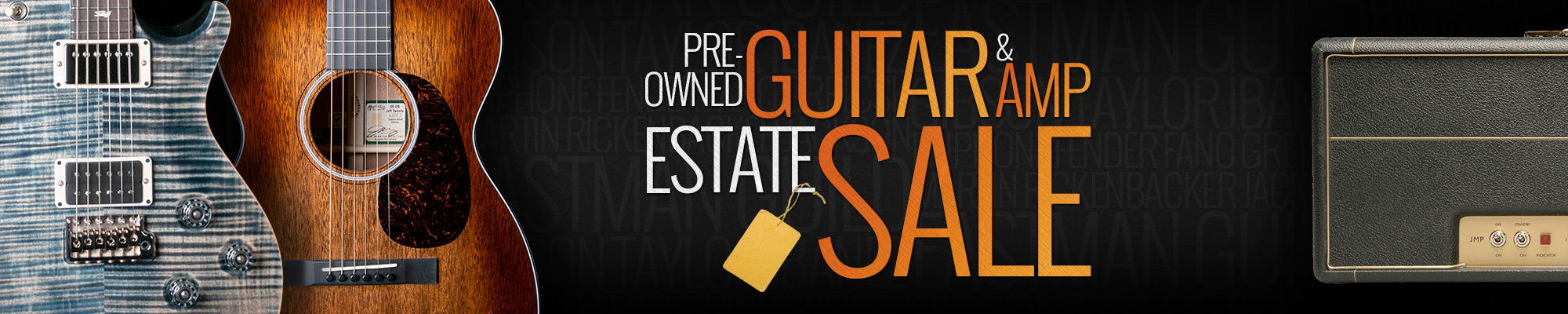 Pre-Owned Guitar & Amp Estate Sale