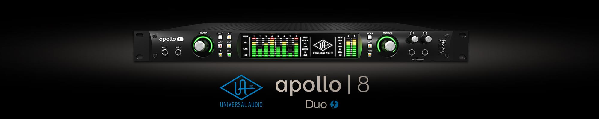 universal audio apollo 8 duo thunderbolt audio interface. Black Bedroom Furniture Sets. Home Design Ideas