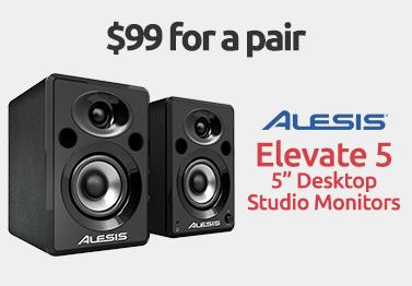 Alesis Elevate 5 Inch Desktop Studio Monitors